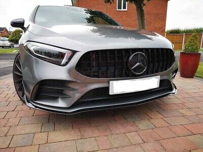 Mercedes A Class 2018+ AMG Style Grill Gloss Black W177 Fits A45 A35
