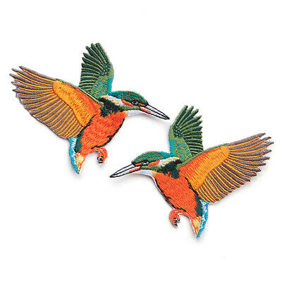1 pairBirds DIY Embroidered Sew on Patch Clothes Fabric Patches Badge·New Q8M8