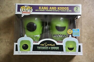 Funko Pop - The Simpsons Kang and Kodos GITD 2-Pack 2019 SDCC Shared Exclusive