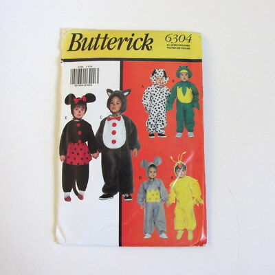 Costume sewing pattern Frog Mouse Dalmatian Puppy Minnie Butterick Halloween