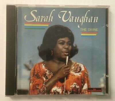 "Sarah Vaughan ""The Divine"" Mint CD *Entertainers CD 225* 1987 French Import"