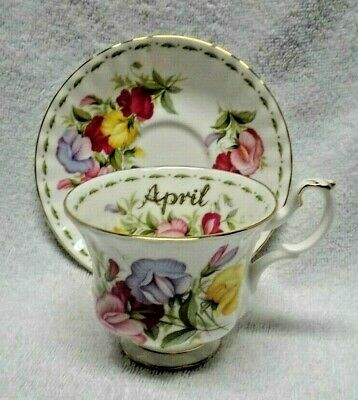 Royal Albert Flower of the Month April 1970 Cup and Saucer