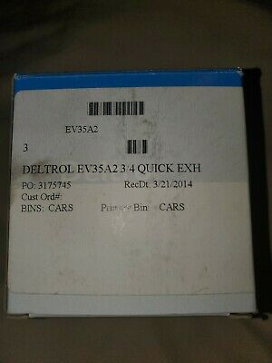 New Deltrol Ev35A2 Quick Exhaust Valve 3/4In
