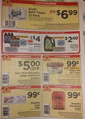 Lot Of 3! Shoprite Back To School Super Discounts Great Savings Expires 9/7/19