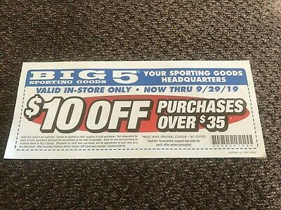 image relating to Big 5 $10 Off $30 Printable referred to as Large 5 Putting on Items Coupon-help save $10 off $30 via 2/25/2019