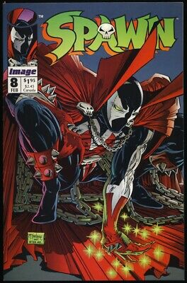 SPAWN #8 1993 NM- 9.2 1ST APPEARANCE OF VINDICATOR Alan Moore TODD MCFARLANE