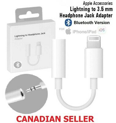 For iPhone 7 8 Plus X Xs Xr Lightning to 3.5mm Jack Headphone  Bluetooth