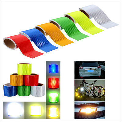 """2""""X10'' 3M Reflective Safety Warning Tape Film Sticker Conspicuity Tape Roll Hot"""