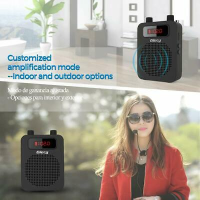 Giecy Multi Portable Wireless Voice Amplifier Headset Bluetooth Coaches Singing