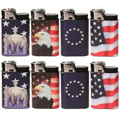 "8 x Djeep ""Stars & Stripes"" Lighters, Brand New, Same Day Express Shipping"