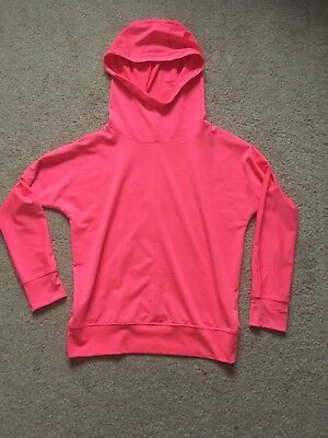 Girls Matalan Bright Pink Hooded Sports Running Top 8–9 Years
