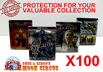 100x 4K UHD WITH SLIPCOVER - CLEAR PROTECTIVE BOX PROTECTOR SLEEVE CASE