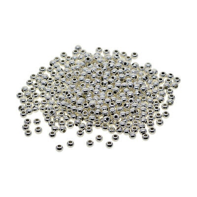 Wholesale Lot Silver Metal Round Spacer Beads Jewelry Craft Findings 4x3mm