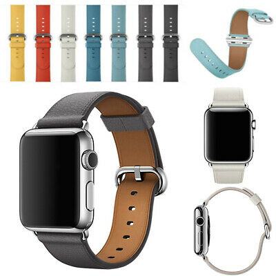 For Apple Watch Genuine Leather Strap iWatch Band 42mm 38mm Wristband Series 4 3