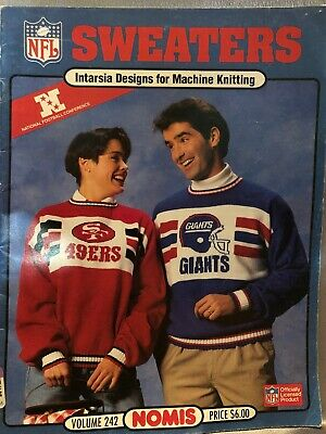 NFL Football Sweaters Intarsia Design Machine Knitting Pattern Nomis #242