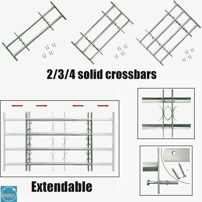 Extendable Window Guard Security Grille Crossbars Home Workshop Office Protector