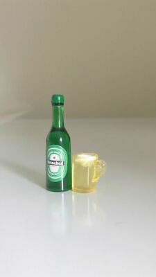 Miniature Dollhouse 1:12 Beer Bottle & mug Great with Coles Little Shop 2