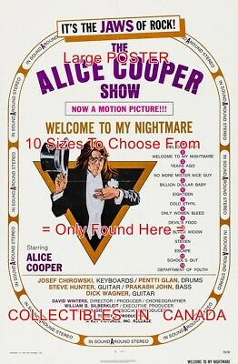 """ALICE COOPER 1975 Welcome To My Nightmare MOVIE = POSTER 10 Sizes 18"""" - 4.5 FEET"""