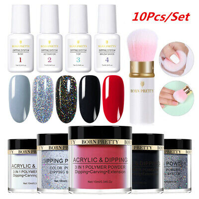 14Pcs/Set NICOLE DIARY Dipping Powder Nail Art Dip System Liquid Pro Starter Kit
