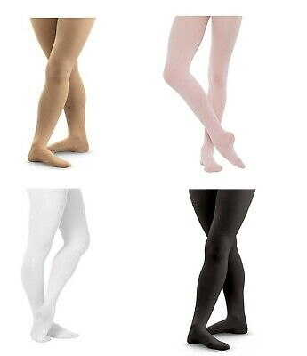 Girls Kids Childrens Ballet Dance Tights 60 Denier Pink Black White Tan 1-13