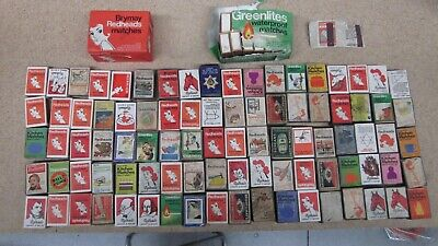 100 x BOXES VINTAGE BRYMAY REDHEADS MATCH BOX COLLECTION Some NOS and Rare