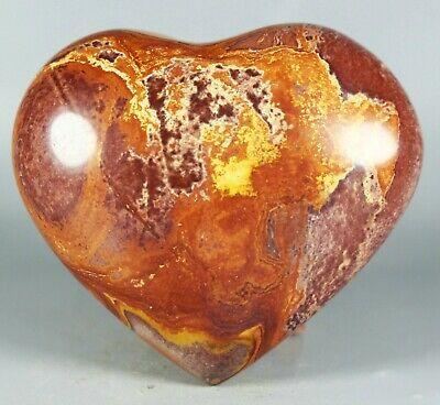 NATURAL Polished POLYCHROME JASPER HEART -Madagascar