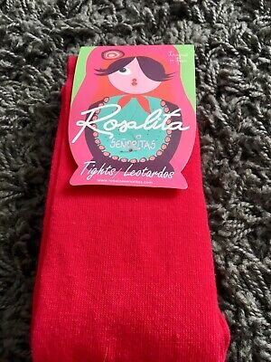 Rosalita Senorita Girls BN Tights Age 10 Red