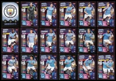 Match Attax 2019/20 Pick Your Manchester City Base Cards Mint