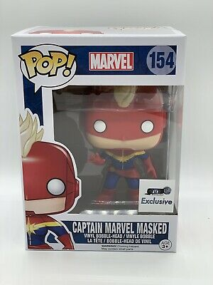 Funko Pop! Captain Marvel Masked GTS Exclusive #154 Vinyl Figure NM