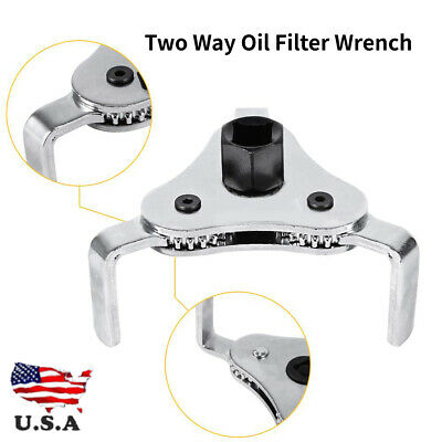 Oil Filter Universal Car Truck 3 Jaw Adjustable Two Way Spanner Remover Wrench