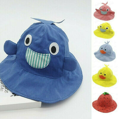 Children Toddler Baby Kids Boys Girls Fisherman Cartoon Animal Sun Cap Sun Hat