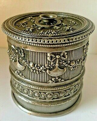 Victorian Silver Plated Chased Thread Box