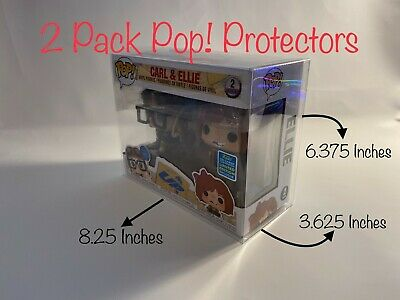 (5) X Funko Pop! 2 Pack Vinyl / Vynl Box Protector Acid Free Crystal Clear Case