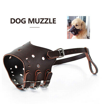 Dog Pet Muzzle  Dog Muzzle Mouth Cover Muzzle Guard for Dogs Prevent Biting U1L9