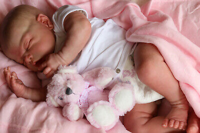 """Realistic Reborn Doll 21"""" Celeste Musgrove Chunky Baby By Marie 9Yrs Ghsp"""