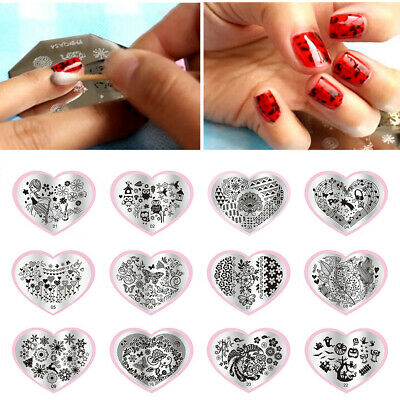 Pretty Nail Art Stamp Image Plates Stamping Templates Creative Decoration Heart