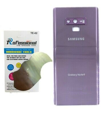 OEM Battery Glass Back Door Cover Replacement For Samsung Galaxy Note 9 Purple