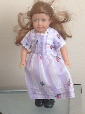 American Girl Mini Doll Felicity Merriman Original Outfit Purple Dress And Shoes