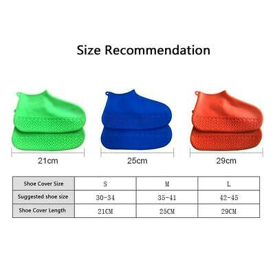 Silicone Overshoes Rain Waterproof Shoe Covers Cover Protector Recyclable F7M0