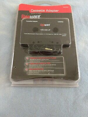 "Gigaware Cassette Adapter 1200632 NEW 1/8"" 3.5mm Plug"