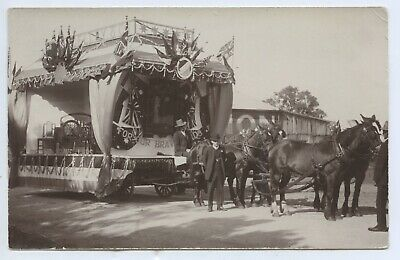 Ww1 Rp Postcard A Pengelly & Co Patriotic Float Adelaide 1915 Tram Builders E78