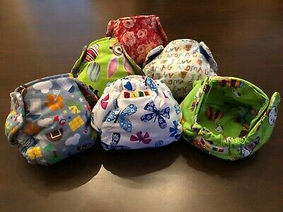 6 MIKO 100% Cotton Newborn Baby Diapers Washable Highly Absorbent Super Soft