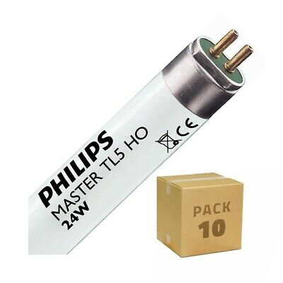 Pack Tubo Fluorescente Regulable PHILIPS T5 HO 550mm Conexión dos Laterales 24W