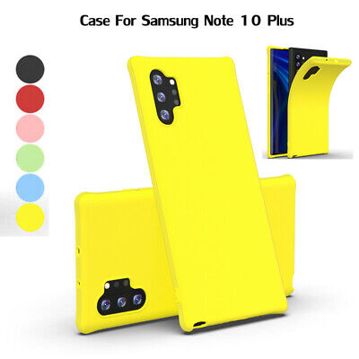 For Samsung Note 10 Plus S10 + A70 A50 Soft Slim Silicone Cover Shockproof Case