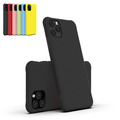 For iPhone 11 Pro Max XS XR 8 7 Plus 6s Shockproof Matte Bumper Soft Case Cover