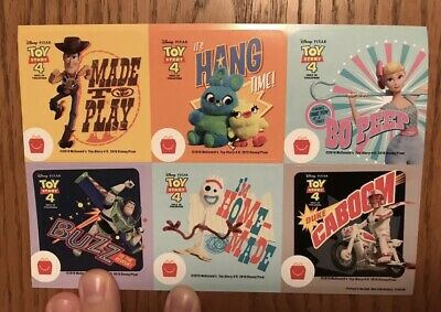 Toy Story 4 Mcdonalds Stickers 10 Full Sets