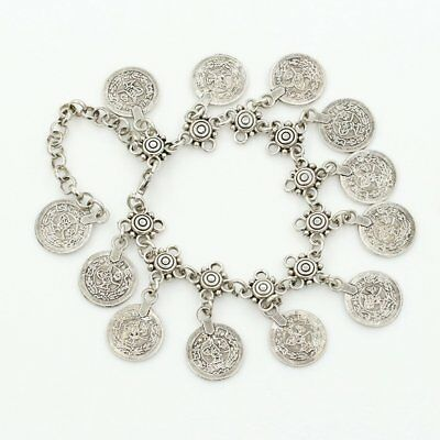 Fashion With Retro Style Metal Coin Tassel Anklet Bracelets Jewelry Accessory SR