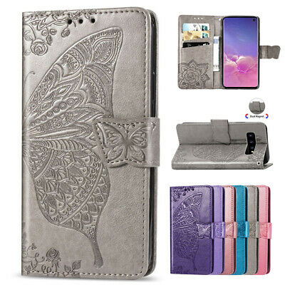 Samsung Note10+ 5G S10 S9 S7 S8 Magnet Flip Leather Wallet Card Stand Case Cover