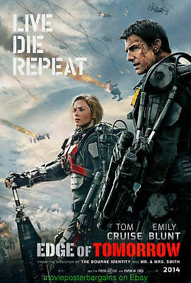 EDGE OF TOMORROW MOVIE POSTER Mint DS 27x40 ADVANCE TOM CRUISE EMILY BLUNT 2014