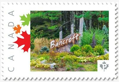 BANCROFT- Town Limit Sign Personalized Postage stamp MNH Canada 2018 [p18-05sn5]